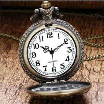 โปรโมชั่น Antique Style Zodiac Animal Pocket Watch Necklace with Chain -  Jane Accessories