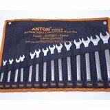 ขาย Anton ประแจแหวนข้าง ปากตาย เหล็กCr V ขนาด 8 24 มม 14ชิ้น ใหม่
