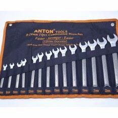 ซื้อ Anton ประแจแหวนข้าง ปากตาย เหล็กCr V ขนาด 8 24 มม 14ชิ้น ออนไลน์ ถูก