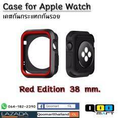 ซื้อ Apple Watch เคสกันรอย กันฝุ่นหรือรังสี สำหรับ Iwatch Apple Watch ใช้ได้ทั้ง Series1 2 สีแดงดำ ไซด์ 38 Mm ถูก