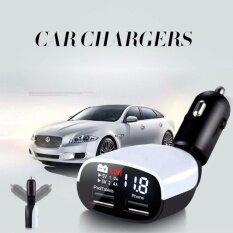 ขาย ซื้อ Led Dual Usb Car Charger 3 4Amp ที่ชาร์จในรถ หัวชาร์จในรถ สายชาร์จ Usb Charger พร้อมบอกไฟแบตเตอรี่รถในตัว ใน กรุงเทพมหานคร