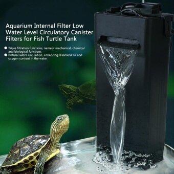 Aquarium Internal Filter Low Water Level Circulatory Canister Filters for Fish Turtle Tank - intl