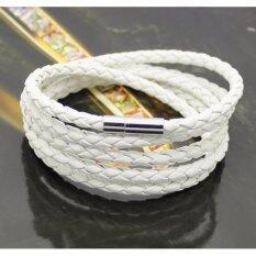 ราคา Areeya Shop กำไลข้อมือหนัง ถัก หัวสแตนเลส สีขาว Bracelet S52 White Areeya Shop กรุงเทพมหานคร