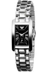 ราคา Armani นาฬิกาข้อมือสำหรับผู้ชาย Ar0170 สายสแตนเลสสีดำ ราคาถูกที่สุด