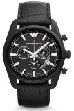 ซื้อ Armani Emporio Men S Watch Ar6035 Sportivo Chronograph Leather Strap Black ใหม่