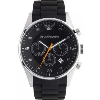 Armani Emporio Men's Watch Resin Strap AR5858 - Black