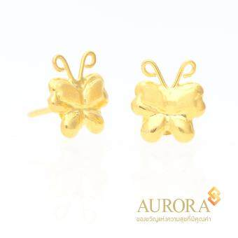 AURORA ต่างหูทองรูปผีเสื้อน้อย ทองคำแท้ 75%