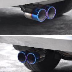 ขาย Auto Car Twins Curved Exhaust Rear Pipe Muffler Silencer Stainless Steel Intl Unbranded Generic ผู้ค้าส่ง