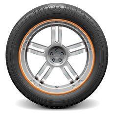 ราคา Auto Car Wheel Hub Rim Edge Rubber Strip Orange Intl
