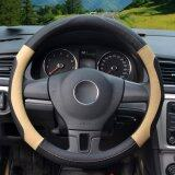 ซื้อ Auto Steering Wheel Covers Diameter 15 Inch Pu Leather For Full Seasons Black And Beige จีน