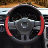ส่วนลด สินค้า Auto Steering Wheel Covers Diameter 15 Inch Pu Leather For Full Seasons Black And Red