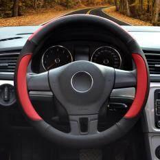 ซื้อ Auto Steering Wheel Covers Diameter 15 Inch Pu Leather For Full Seasons Black And Red Luowan ถูก