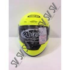 ขาย ซื้อ หมวกกันน็อค Avex เต็บใบ สีเหลืองสะท้อนแสง ของแท้จากศูนย์ฮอนด้า Thailand