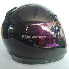 ขาย Avex หมวกกันน็อคเต็มใบ แบบหุ้มคาง รุ่น Dx สีดำเงา หน้ากากปรอท ถูก