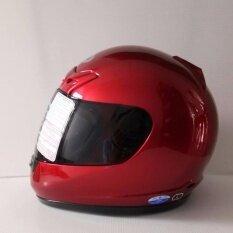 โปรโมชั่น Avex หมวกกันน็อคเต็มใบ รุ่นDx ล้วน สีแดงบรอนส์ แว่นดำ ถูก