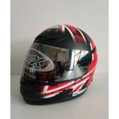 ราคา Avexหมวกกันน็อคเต็มใบ รุ่น Dx Mb11 สีดำด้าน แว่นปรอท Avex