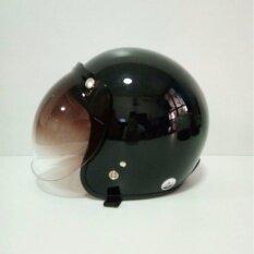 ราคา Avex หมวกกันน็อควินเทจคลาสสิค รุ่น Lb สีดำเงา คิ้วดำ ผ้าดำ พร้อมแว่น Bubble สีทูโทน ใหม่