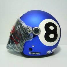 ซื้อ Avex หมวกกันน็อค Teenage เลข8 สีนำ้เงินด้าน แว่นดำ