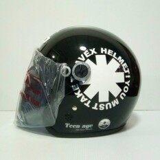 ราคา Avex หมวกกันน็อค Teenage ลาย Wheel สีดำเงา ขาว แว่นดำ เป็นต้นฉบับ Avex