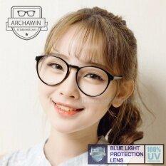 แว่นตากรองแสง แว่นกรองแสง กรอบแว่นตา แฟชั่น เกาหลี รุ่น Aw 7860 (black)(กรองแสงคอม กรองแสงมือถือ ถนอมสายตา).