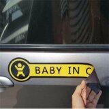 ซื้อ Baby In Car แม่เหล็กยาง ติดภายนอกรถยนต์ สีเหลือง 8X30 ซม Bic Stickers เป็นต้นฉบับ