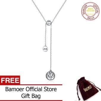 BAMOER จัดส่งฟรีของแท้925เงินสเตอร์ลิง Tree Of Life & House Letter Link สร้อยโซ่ & จี้เครื่องประดับเงินแท้ SCN106