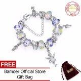 ราคา Bamoer Hot Sell European Style 925 Silver 18Cm Crystal Charm Women Bracelet With Murano Glass Beads Diy Jewelry Pa1178 Intl ใหม่ ถูก