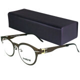 ราคา Bao Bao Issey Miyake แว่นตา ไม่ใช้น็อต รุ่น 9104 สีน้ำตาล Made In Korea เป็นต้นฉบับ