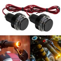 ขาย Bar End Led Indicator Turn Signal Billet 1 Or 7 8 Cafe Racer Turn Signals Black Intl Thailand ถูก
