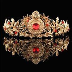 ราคา Baroque Gold Bridal Tiara Crystal Prom Pegeant Crown Headband Hair Accessories Gold Intl Unbranded Generic เป็นต้นฉบับ