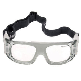 ฟุตบอลบาสเกตบอลฟุตบอลกีฬาแว่นตาป้องกันแว่นตาแว่นสายตาสีดำของขวัญสีเทา