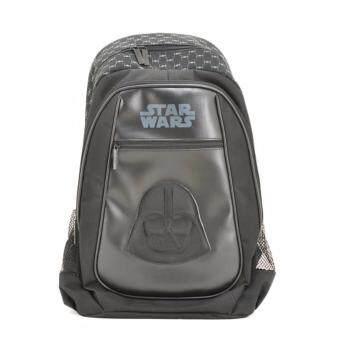 (special%) Bata Disney กระเป๋าสะพายหลังแบบมีล้อลาก ลายสตาร์วอร์ สีดำ รหัส 9926770
