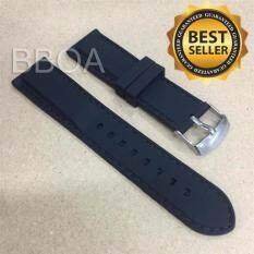 ซื้อ Bb Shop สายนาฬิกา ยาง ซิลิโคน Silicone ขนาด 20มิล 20Mm สีดำ เดินด้ายสีดำ Bb Shop เป็นต้นฉบับ