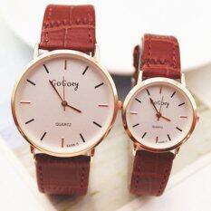 ขาย Beauty Watch นาฬิกาคู่ นาฬิกาข้อมือ นาฬิกาแฟชั่น Couple Watch สายหนัง รุ่น W 007 สีน้ำตาล Beauty Watch เป็นต้นฉบับ