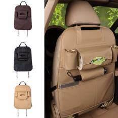 ราคา กระเป๋าหนังพรีเมี่ยม ที่ใส่ของหลังเบาะรถยนต์ กระเป๋าใส่ของอเนกประสงค์ กระเป๋าเก็บสัมภาระในรถ Beige Unbranded Generic ออนไลน์