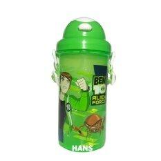 โปรโมชั่น Ben10 กระติกน้ำสำหรับเด็ก มีหลอด สีเขียว