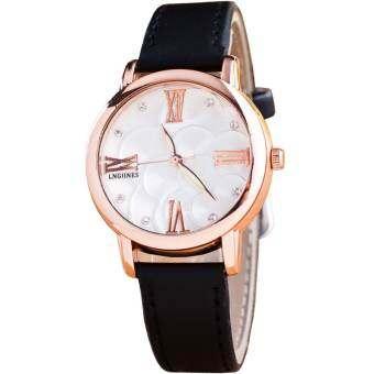 BEST นาฬิกาข้อมือผู้หญิง ฟ้า สายหนัง รุ่น 0018-