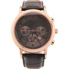 ราคา Best Date Quartz นาฬิกาข้อมือชาย สีดำ สายหนังพียู Silver Case รุ่น Bb0000016 Black Gold ถูก