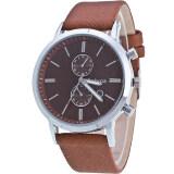 ซื้อ Best Date Quartz Waterproof Man Watch นาฬิกาข้อมือชาย สีดำ สายหนังพียู Silver Case รุ่น Bb0005 Brown Best เป็นต้นฉบับ