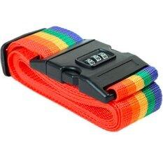 Bestสายรัดกระเป๋าเดินทาง พร้อมรหัสล็อก Rainbow Travel Luggage Belt Suitcase Strap With Code Lockรุ่น Bb0053 (rainbow).
