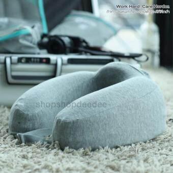 Bewell หมอนรองคอของแท้100% เมโมรี่โฟม นุ่มสบาย กระชับรับสรีระลำคอใช้ได้ 5 แบบ สีเทา