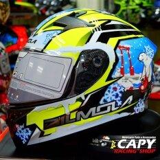 ซื้อ Bilmola หมวกกันน็อก หมวกกันน็อค หมวกกันน๊อก หมวกกันน๊อค Bilmola Veloce Snow Sky Green Big Bike And Motorcycle Helmet ถูก กรุงเทพมหานคร