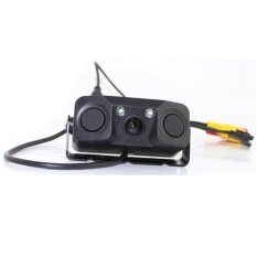 ราคา Black Car Rearview Camera Waterproof Backup View Assistance With 2 Radar Probes Accurate Monitor For Parking Specification 3 In 1 Intl ใหม่