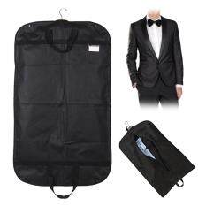 ซื้อ Black Suit Dress Coat Garment Storage Travel Carrier Bag Cover Hanger Protector Intl ออนไลน์ จีน