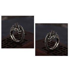ราคา Blackhorse แฟชั่นชาย Retro มังกรแหวนเงิน 800 ใหม่