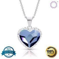 Bling Bijoux Jewelry จี้หัวใจสีน้ำเงิน เงินแท้ 925 เครื่องประดับผู้หญิง เป็นต้นฉบับ