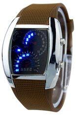 ขาย Bluelans® Brown Rubber Band Watch Brown Blue Lans ใน จีน