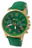 ซื้อ Bluelans® เจนีวานาฬิกาข้อมือหนังเทียมเลขโรมัน เขียวเข้ม ใหม่