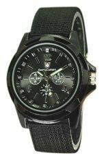 ขาย ซื้อ ออนไลน์ Bluelans® สายนาฬิกาข้อมือกีฬาทหารไนลอนสีดำ