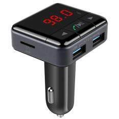 ทบทวน Bluetooth V4 1 Dual Usb Car Charger Mp3 Player App Control Wireless Fm Transmitter Charger บลูทูธในรถยนต์